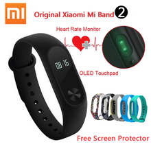Stock xiaomi xiaomi mi banda 2 pulsera inteligente de pulso del ritmo cardíaco miband xiaomi mi banda 2 con pantalla oled de 2 pulseras originales