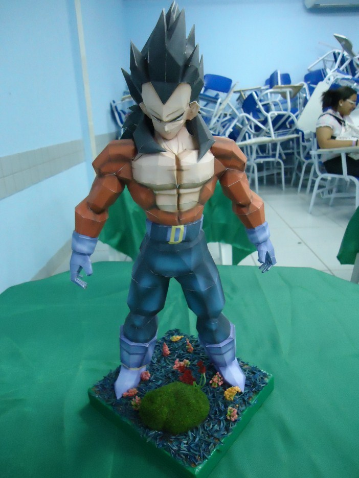 3 Paper Model Dragon Ball Z Vegeta Super Saiyan Paper Craft
