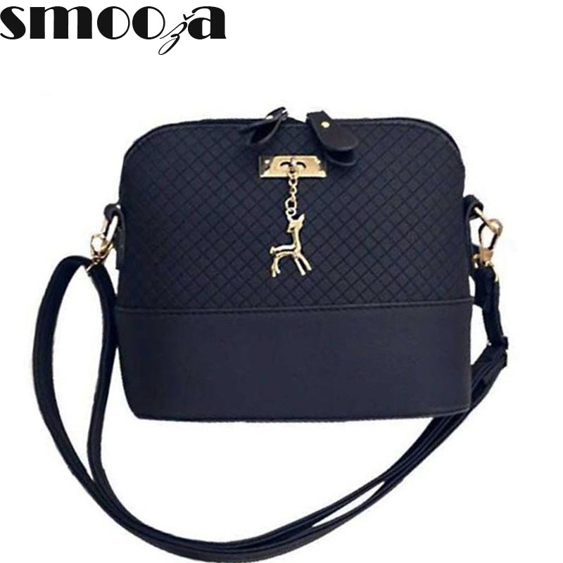 SMOOZA Deer Shell women Bag HOT SALE 2017 Women Messenger Bags Fashion lady cros
