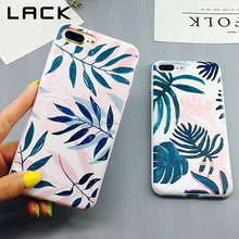 LACK Candy Color Art Leaf Phone Case For iphone
