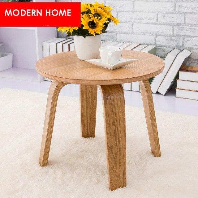 Diseño moderno mesa auxiliar de madera minimalista moderno nogal ...