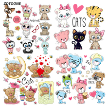 ZOTOONE Iron on Transfer Patches for Clothing Cute Cartoon Animal Set T Shirt Beaded Applique Clothes Decoration DIY Kids Gift G