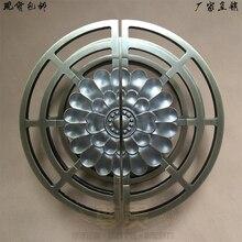 Frameless glass door handle door handle door handle Chinese antique bronze door half hand