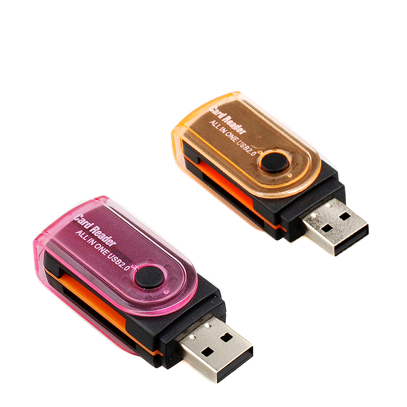 Multifunction USB 2.0 All In One Multi Memory Card Reader For Micro SD/TF M2 MMC SDHC MS Memory Cards Readers