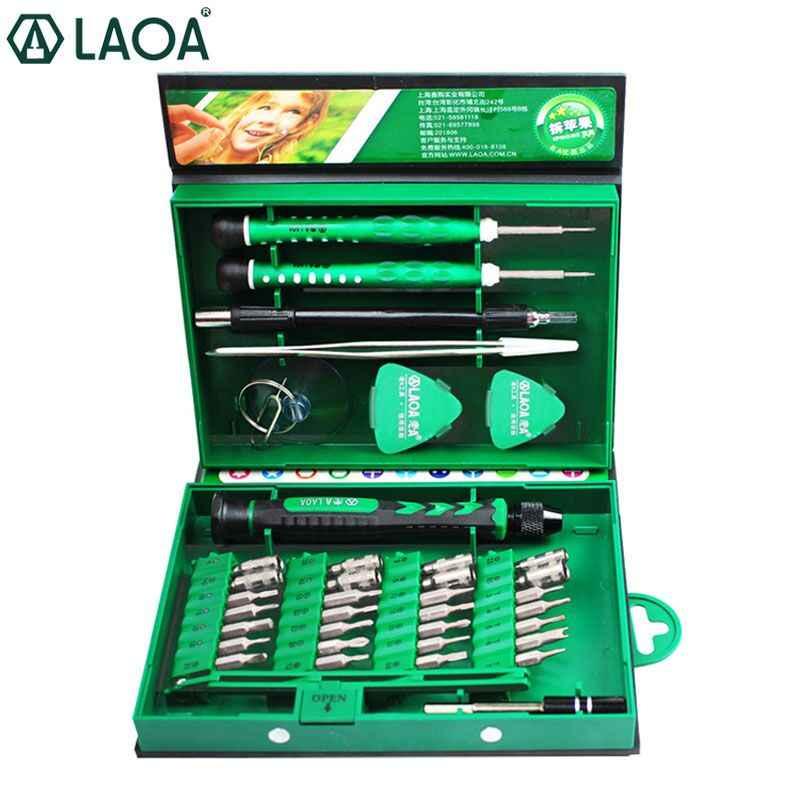 LAOA 38 In 1 Obeng Set Presisi Obeng Bit Set Laptop Ponsel Perbaikan Alat Kit Yang Tepat Sekrup Tangan alat
