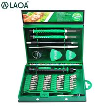 LAOA 38 in 1 Screwdrivers Set Precision Screwdriver bit set Laptop Mobile phone Repair Tools Kit Precise Screw Driver Hand tools cheap Woodworking LA613138 Case Computer Tool Kit see details hand tool set Repare for Iphone Samsung PC WATCH