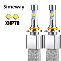 2PCS For Cree Chips XHP-70 110W 13200LM P70 Auto LED Headlight H7 H11 H4 9005 9006 9012 D2S D2R D4S /R Car Super Bright led lamp