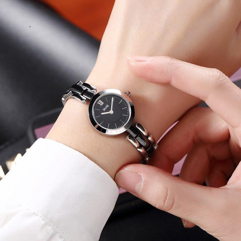 Dalishi Лидирующий бренд Для женщин женские часы кварцевые часы из розового золота Элегантный женский две иглы простые Стиль леди смотреть ...