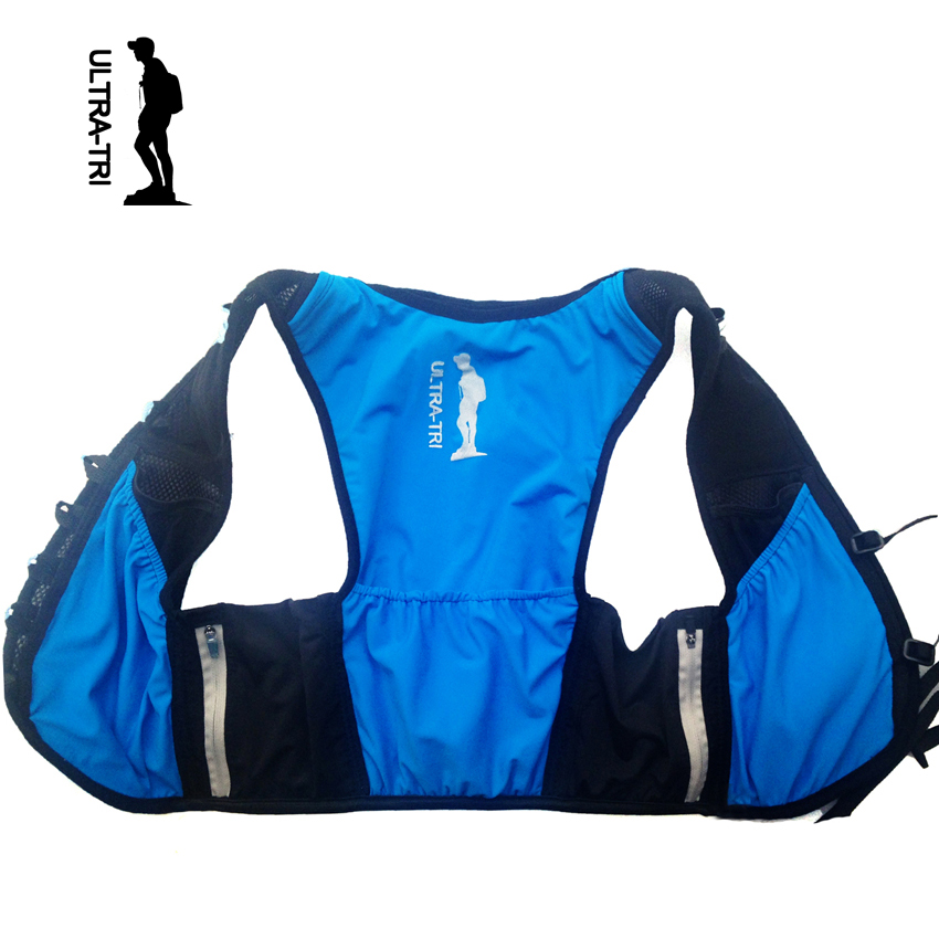 ULTRA-TRI Hydration Running Backpack Vest Ultra Trail Run Lightweight Marathon Racing Mochila Sport Bag Speedvest Blue 8L