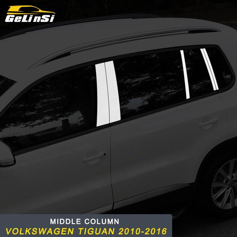 GELINSI couverture de colonne moyenne garniture de décoration de siège pour Volkswagen Tiguan 2010-2016 voiture Auto