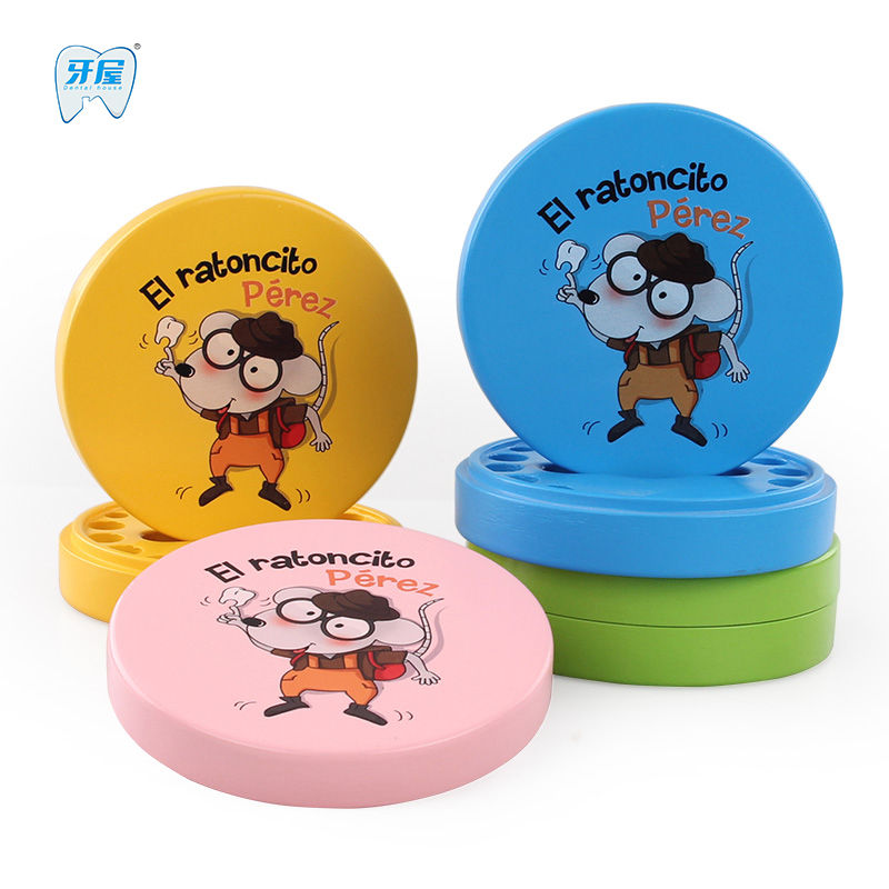 Baby teeth box save milk teeth storage wooden box Baby creative wooden tooth fairy for children