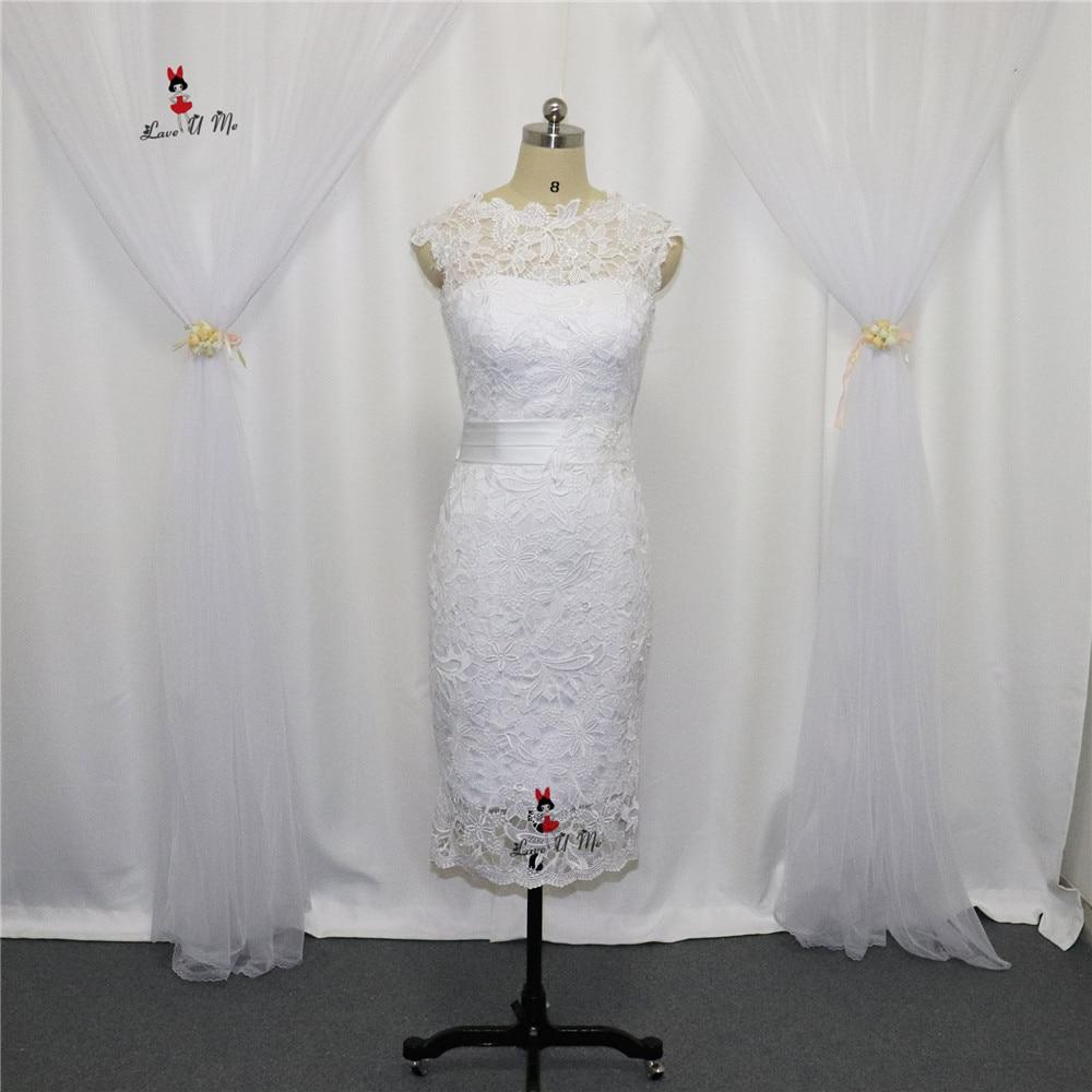 Boho Cheap Little White Dress For Weddings Knee Length Wedding Gowns