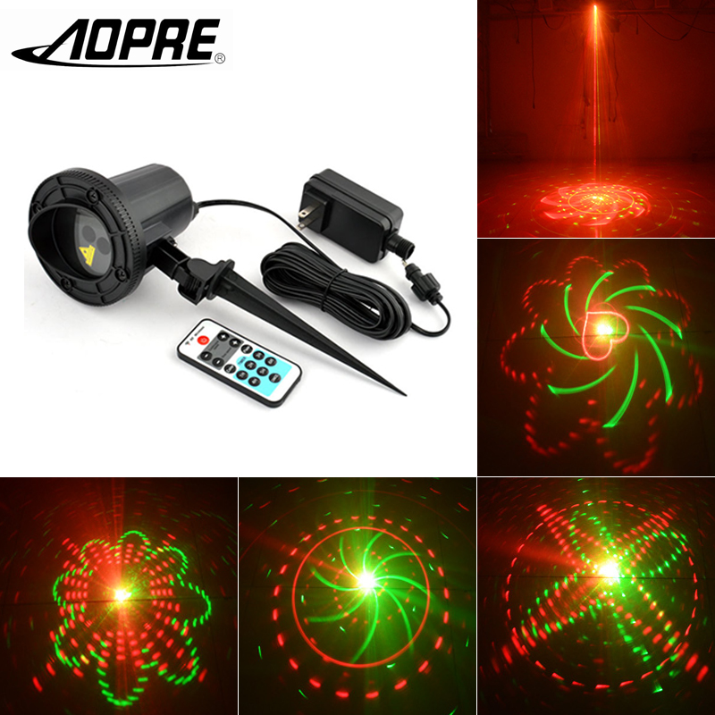 AOPRE  Waterproof Laser Projection Light  with Remote Controller Garden Decoration 5W Outdoor Lawn Lamp For Disco Party Home 5 5w laser