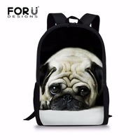 FORUDESIGNS Lovely Family Pet Dog Backpack For Teenager Boys Girls Cute Children Kids Schoolbag Campus Travel