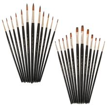 12pcs/Set Paint Brush Wooden Acrylic Painting Gouache Cosmetic Art Kit Drawing Pens 25 pieces art paint brush value set for oils acrylic gouache