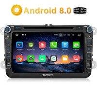Тыква 2 Din 8 ''Android 8,0 DVD плеер автомобиля gps навигации стерео для Volkswagen/Skoda/Гольф/Поло FM Rds радио Wi Fi головного устройства