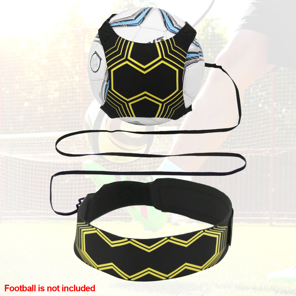 Kick Ball Control Skills Practice Sports Supplies Training Aid Soccer Trainer Elastic Hand-free Durable Football Strap Returner
