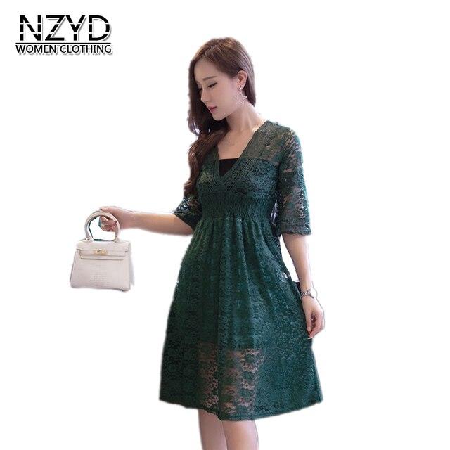 2009ea721ab 2018 Femmes D été Robe Nouveau Style De Mode V-cou Pull Grande Taille