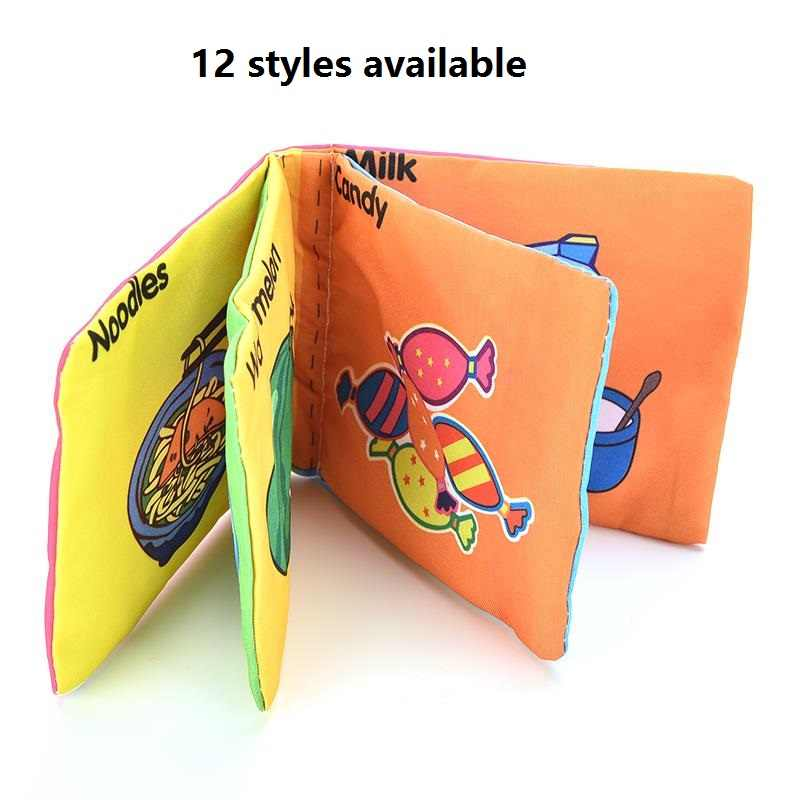 12 styles 1PC Baby Intelligence Soft Cloth Book Rustle Sound Infant Educational Stroller Rattle Toy Newborn Crib Bed Baby Toys