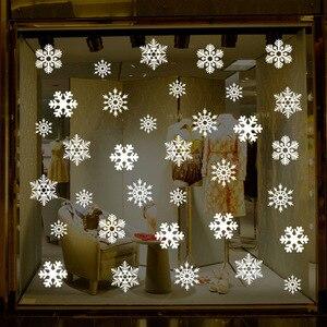Image 5 - 38 sztuk/partia snowflake naklejki elektrostatyczne okno dzieci pokój boże narodzenie naklejki ścienne naklejki do domu dekoracje nowy rok tapety