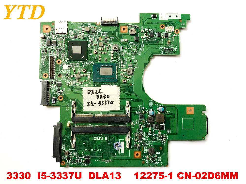 Original for DELL <font><b>3330</b></font> laptop motherboard <font><b>3330</b></font> <font><b>I5</b></font>-3337U DLA13 MB 12275-1 CN-02D6MM tested good free shipping image