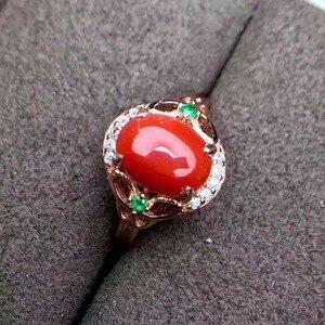 Image 5 - KJJEAXCMY Edlen schmuck 925 Sterling Silber mit rote koralle weibliche ring und silber zertifikat können ausgewählt werden