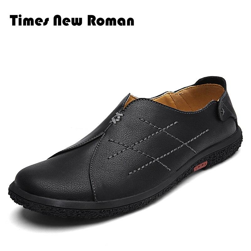 100% QualitäT Times New Roman Mode Neue Ankunft Casual Männer Echtem Leder Loafer Schuhe