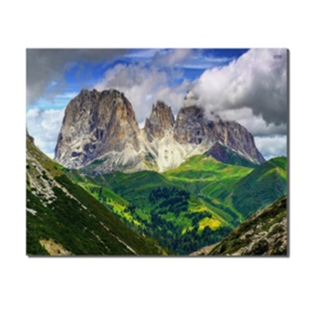 Blue Sky Cloud Mountains Trees Landscape Home Decoration Canvas Artwork Painting Poster Picture Printed for Living Room Bathroom