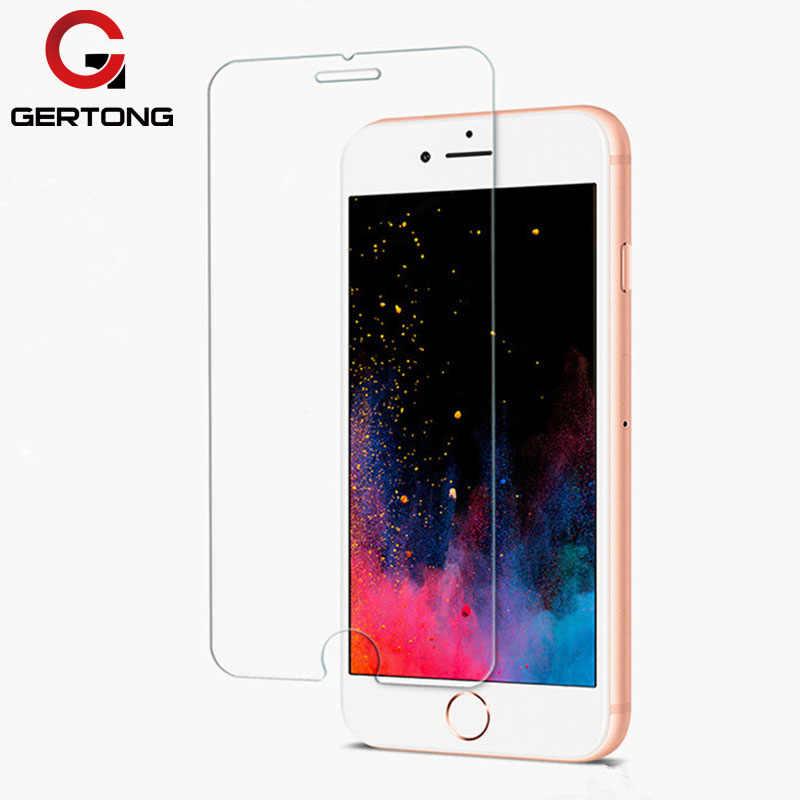 GerTong واقية الزجاج المقسى ل iphone XS ماكس XR 6 7 5 s se 6 6 s 8 زائد الزجاج iphone 8 X واقي للشاشة فيلم iphone 4 4 S