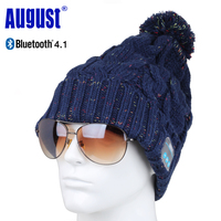 August EPA30 Bluetooth Cap Winter Knit Beanie Hat with Bluetooth Stereo Speakers, Microphone Wireless Headset for Sports