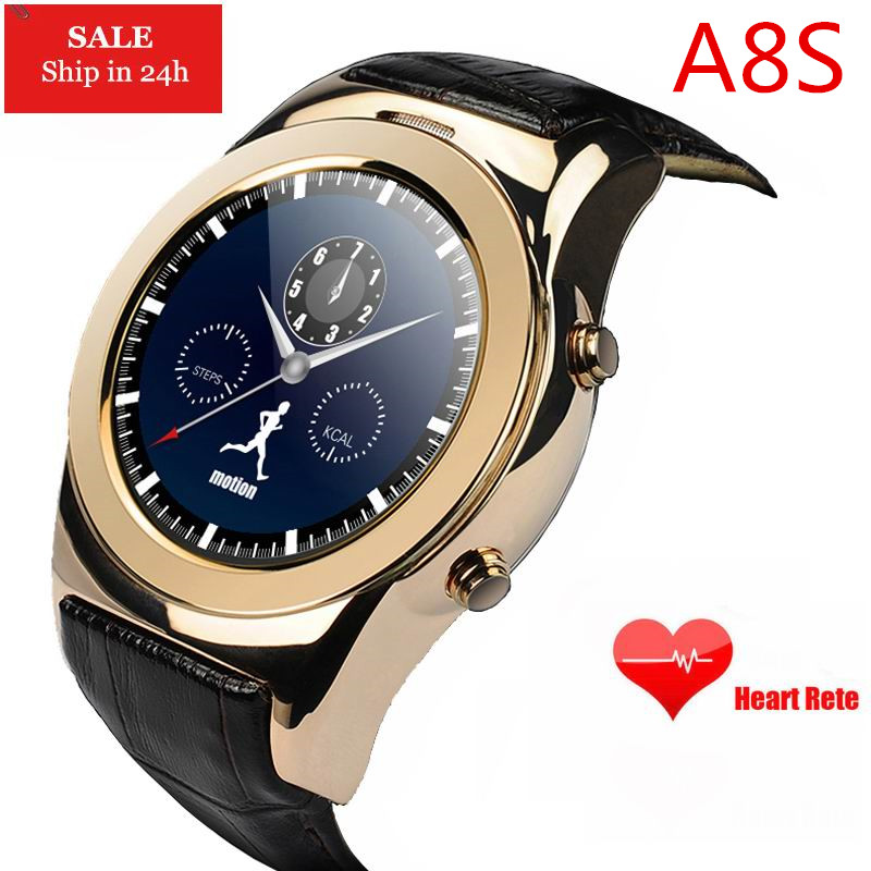 buy cheap great prices half off ✅A8S Round Bluetooth WAP GPRS SMS Smartwatch Support SIM SD Card ...