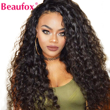 Beaufox Wigs Human-Hair-Wigs Hairline Water-Wave Lace-Front Pre-Plucked Natural Brazilian