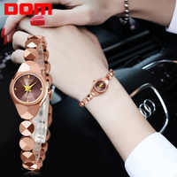 Women Watch DOM Top luxury brand waterproof Casual quartz watch Fashion lady dress Tungsten steel Watches women relogio feminino