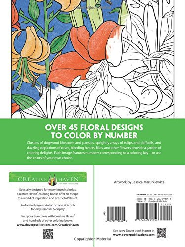 Us 18 5 Creative Haven Floral Design Color By Number Coloring Book English Coloring Book Adults Pencil Coloring Book In Books From Office