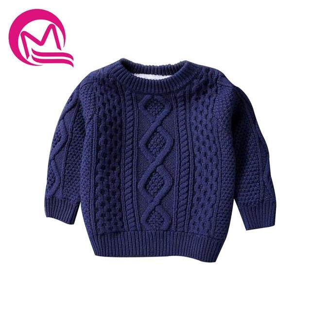 5d54b0f1e2c4 Boys Pullover Knitting Pattern Winter Thick Warm Velvet Sweater For ...
