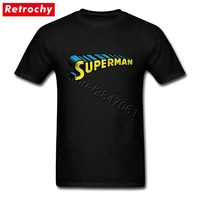 90S Awesome Retro Superman Letter Logo T Shirt Mens Brand Design Short Sleeved Teenagers Tee Shirt