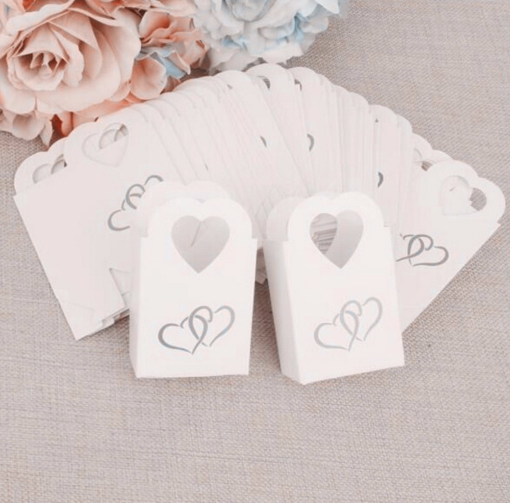 100pcs New European Style candy bag love hearts White / Black candy ...