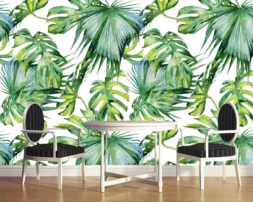 Custom photo wallpaper, tropical leaf murals for living room bedroom sofa backdrop waterproof wallpaper custom baby wallpaper snow white and the seven dwarfs bedroom for the children s room mural backdrop stereoscopic 3d
