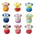 Милый ребенок детский комбинезон для мальчиков одежда для девочек Мультфильм хлопок девочка одежда летние новорожденных мальчиков одежда