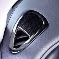 Gebürstet Schwarz Auto Innen Klimaanlage Vent Outlet Abdeckung Trim Für Benz Smart Fortwo 2015 2016 2017 Styling Zubehör