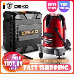 DEKO5 линий 6 очков лазерный уровень 360 поворотный крест лазерной линии выравнивания может быть использован с открытый приемник