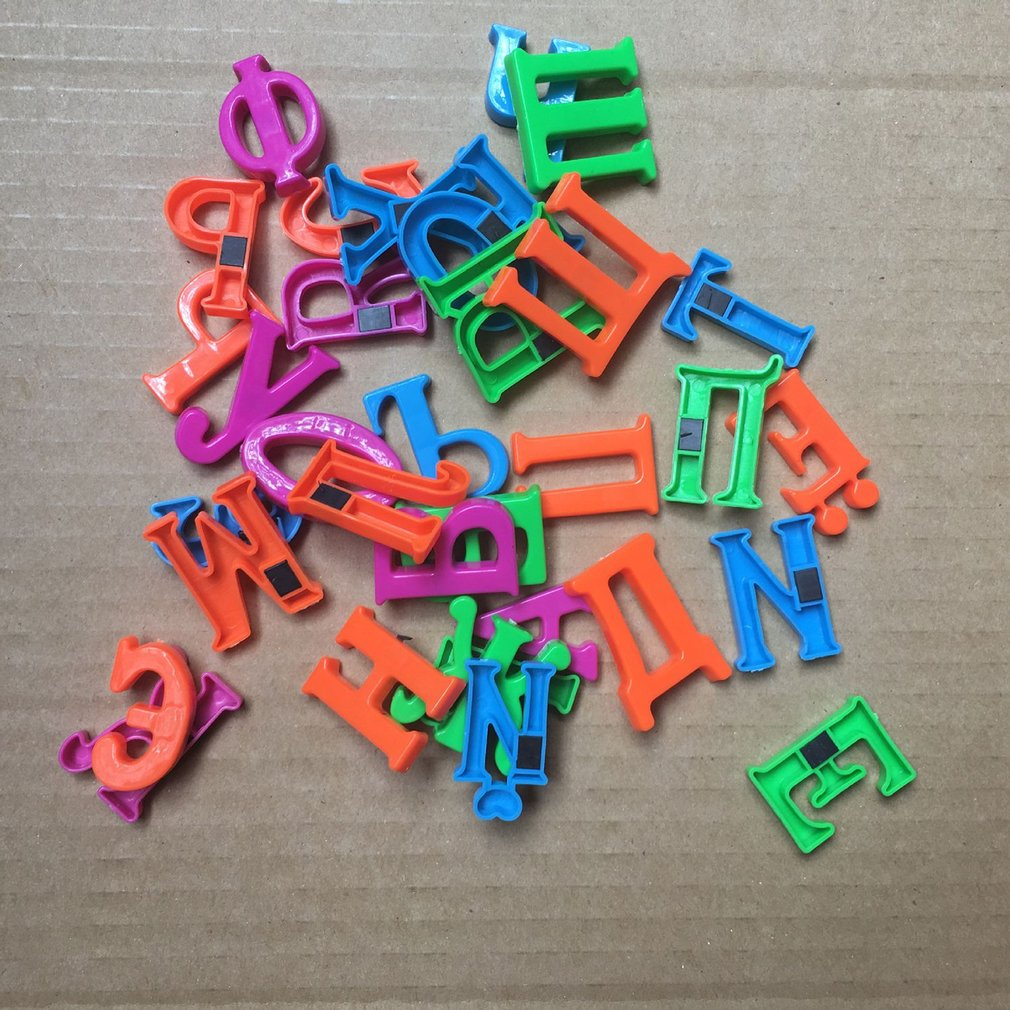 33pcs/set 2CM Magnet Russian Letters Alphabet Puzzle Colorful Fridge Sticker Memorandum Learning Toy Educational Gift For Kids