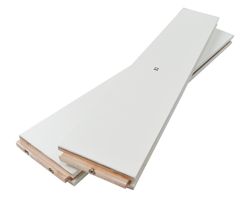 DIYHD K en forme de noyau solide grange dalle MDF apprêté panneau de porte intérieure (démonté), White-36X84, White-38X84 - 5