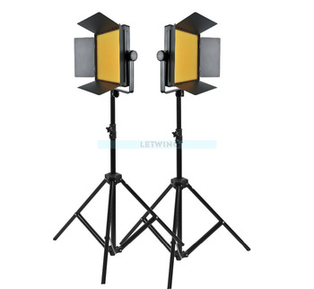 Godox White Version 2000 2X 1000 LED Photo Studio Video Continuous Light Kit For Photography Camera Camcorder DV