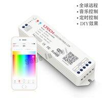 LETCH DC12V 24 V 2.4G MINI WIFI RGBW controlador iOS Android APP WiFi RGBW led controlador Sem Fio Para rgbw led strip luz