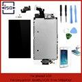 Белый Полный Передняя Сенсорного Экрана Digitizer LCD Дисплея Ремонт Ассамблея Замена для iPhone 5 ЖК-Дисплей + Закаленное стекло + Инструменты