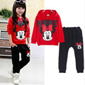 Minnie Baby Girls Clothes Sets 2016 Mickey Cartoon Autumn Cotton Casual Tracksuits Children Kids Clothing Sports Suit 2pc Set