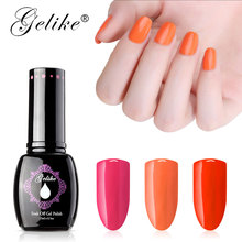 Gelike 25 Colors Gel Saturatain With High Gloss 15ml Polish Soak Off Nail Art  for