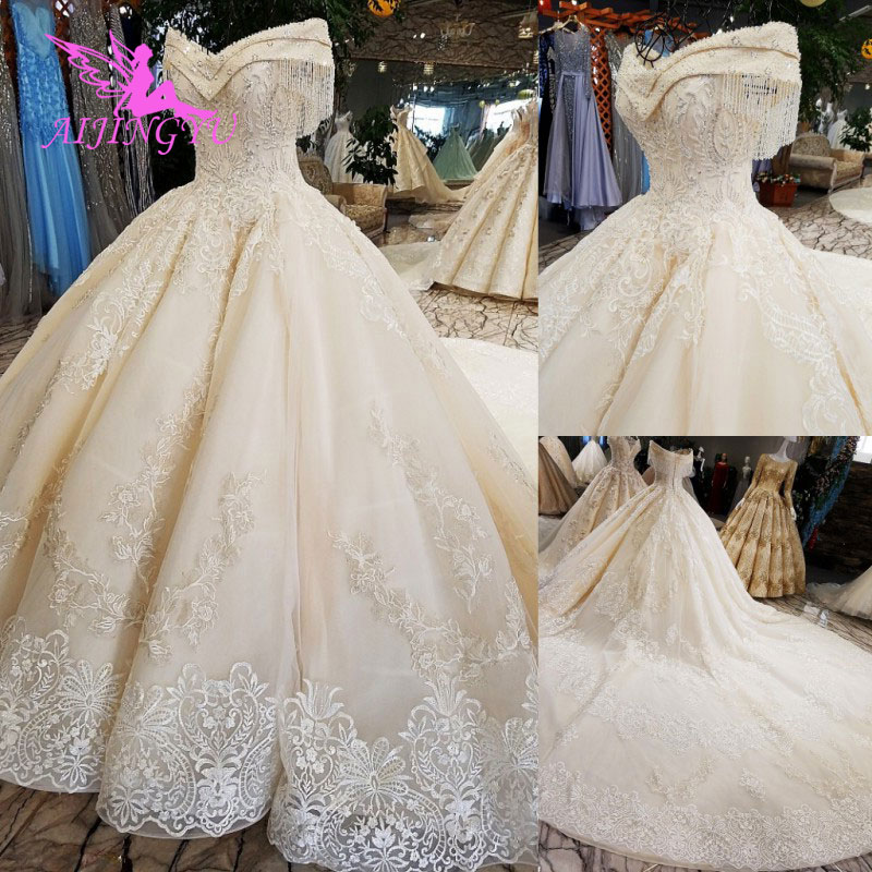 Image 2 - AIJINGYU Real Photo Wedding Dresses Bridal Gown Shop 2018 Made In China Popular Boho Designer Gowns Wedding Dress OutletWedding Dresses   -
