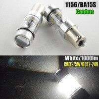 2x 75W High Power 1156 Led Light Bulbs BA15S BAU15S 1000LM Red Amber Xenon White Car